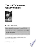 The 21st Century Constitution In The U S Constitution Threaten To Affect