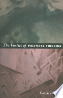 The Poetics of Political Thinking