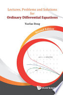 Lectures  Problems And Solutions For Ordinary Differential Equations  Second Edition