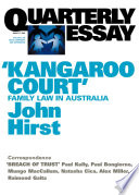 Quarterly Essay 17  Kangaroo Court