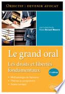 Le Grand Oral Les Droits Et Libert S Fondamentaux 2e Dition