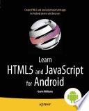 Learn HTML5 and JavaScript for Android