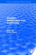 Ebook Revival: Idealism, Metaphysics and Community (2001) Epub William Sweet Apps Read Mobile