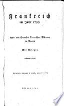 Frankreich im Jahr 1795  Aus den Briefen deutscher M  nner in Paris