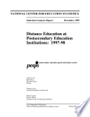 Distance Education At Postsecondary Education Institutions, 1997-98 : ...