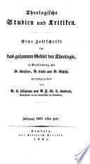 Theologische Studien und Kritiken