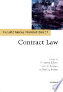 Philosophical Foundations of Contract Law