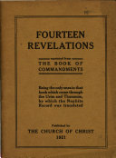 Fourteen revelations reprinted from the Book of commandments