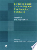 Evidence Based Counselling And Psychological Therapies