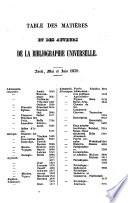 Bibliographie universelle r  sum   p  riodique des publications nouvelles de tous les pays