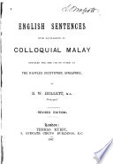 English Sentences with Equivalents in Colloquial Malay
