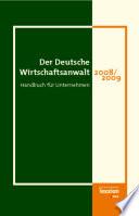 Der Deutsche Wirtschaftsanwalt 2008 2009