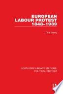 European Labour Protest 1848 1939