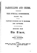 Book Parnellism and Crime: Further evidence as to murders and outrages