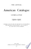 The Annual American Catalogue Cumulated
