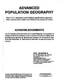 Advanced Population Geography