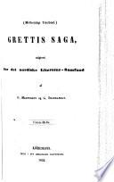 Grettis Saga ved G. Magnússon og G. Thordarson