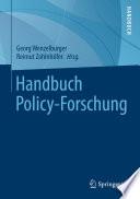 Handbuch Policy Forschung