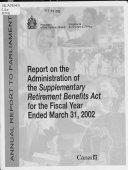 Rapport Sur L Ex Cution De La Loi Sur Les Prestations De Retraite Suppl Mentaires