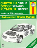 Chrysler Cirrus  Dodge Stratus  Plymouth Breeze Automotive Repair Manual