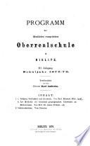 Programm der Öffentlichen Evangelischen Oberrealschule in Bielitz