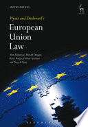 Wyatt and Dashwood s European Union Law