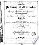 Kais. Königl. Oesterreichischer Provinzialkalender für das Jahr Jesu Christi (etc.)