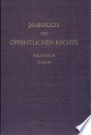 Jahrbuch des   ffentlichen Rechts der Gegenwart  Neue Folge