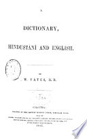A Dictionary  Hindust  n   and English