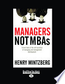 Managers Not Mba s