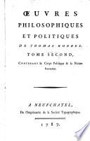 Oeuvres Philosophiques Et Politiques