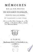 M  moires de la vie priv  e de Benjamin Franklin