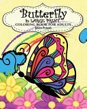 Butterfly in Large Print Coloring Book for Adults