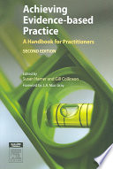 Achieving Evidence Based Practice book