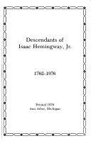 Descendants of Isaac Hemingway, Jr., 1762-1976