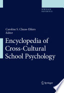Encyclopedia Of Cross Cultural School Psychology