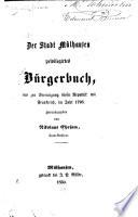 Der Stadt Mülhausen privilegirtes Bürgerbuch