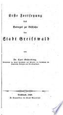 Erste Fortsetzung des Beitrages der Stadt Greifswald