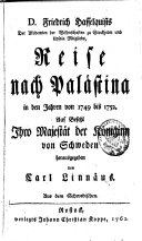 Reise nach Palästina in den Jahren von 1749 bis 1752