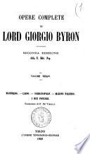 Opere complete di Lord Giorgio Byron