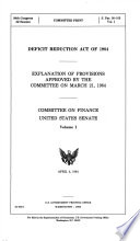 Deficit Reduction Act of 1984 Book PDF