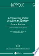 Les mauvais genres en classe de français?