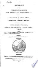 Memoirs of the Philadelphia Society for Promoting Agriculture