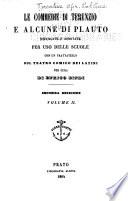 Le commedie di Terenzio e alcune di Plauto