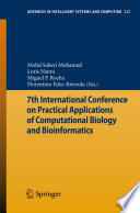 7th International Conference On Practical Applications Of Computational Biology Bioinformatics