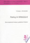 Rating im Mittelstand
