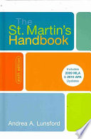 The St  Martin s Handbook with 2009 MLA and 2010 Updates