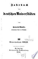 Jahrbuch der deutschen Universitäten