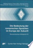 Die Bedeutung der romanischen Sprachen im Europa der Zukunft