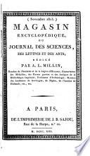 illustration Magasin encyclopédique, ou Journal des sciences, des lettres et des arts